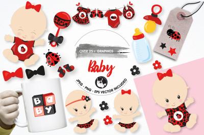 Baby ladybug graphics and illustrations