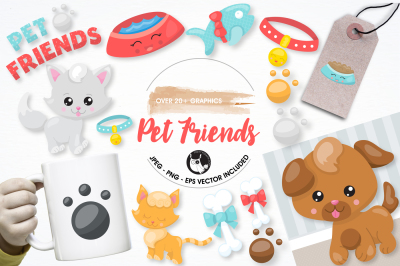 Pet friends Graphics and Illustrations