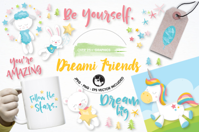 Dream unicorn Graphics and Illustrations