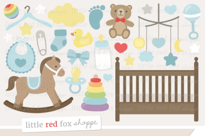 Baby Boy Nursery Clipart