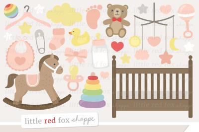 Baby Girl Nursery Clipart