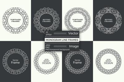 Monogram line simple frames