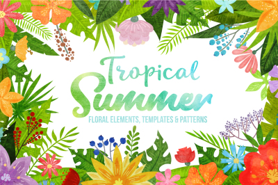 Tropical Summer - clipart collection