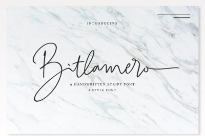 4 Style Font - Bitlamero Script