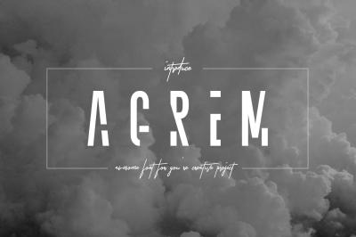 Agrem Typeface