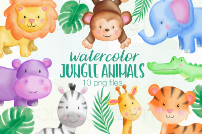 Jungle Animals Watercolor Illustrations