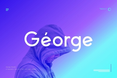 George Sans - 8 Fonts Geometric Typeface