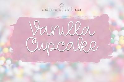 Vanilla Cupcake - Handwritten Script Font