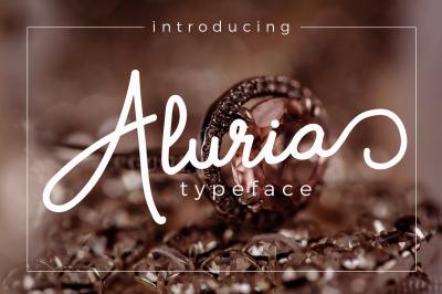 Aluria - Signature Font