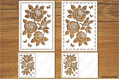 Floral Greeting Card 2 SVG files for Silhouette Cameo and Cricut.