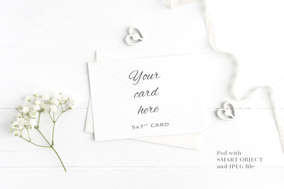 Floral 5x7 Card Mockup - crd213