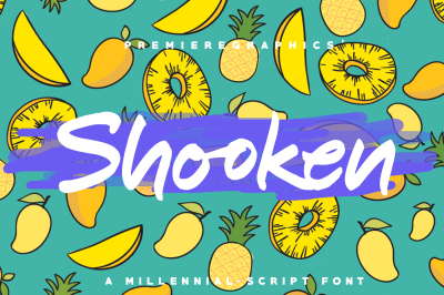 Shooken Fonts + Extras & Swashes