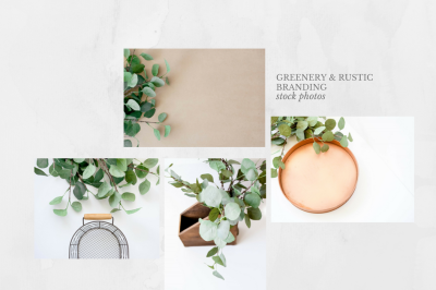 Styled Stock Photos - Greenery & Rustic Accents