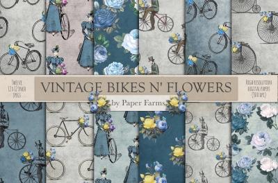 Vintage bikes and flowers