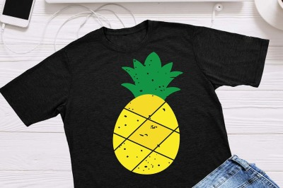 Pineapple svg, grunge svg, distressed, Beach please, Hello Summer
