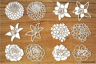 Flowers set 3 SVG files for Silhouette Cameo and Cricut.