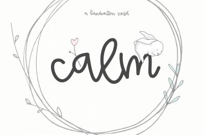 Calm - A Handwritten Script