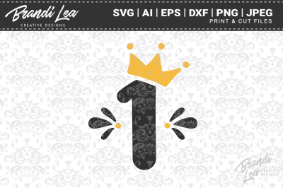 One Crown SVG Cut Files