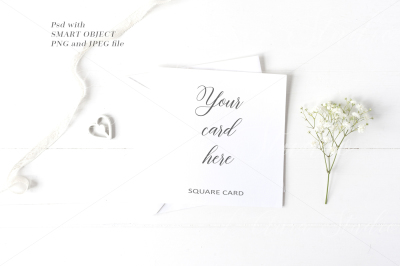 Wedding Square Card Mockup - crd231