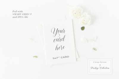 Floral 5x7 Card Mockup - crd232