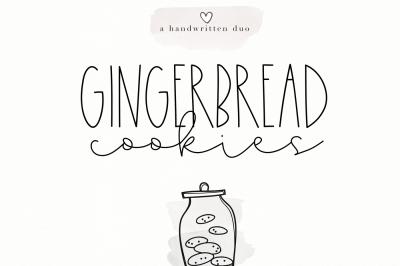 Gingerbread Cookies - A Script Font Duo
