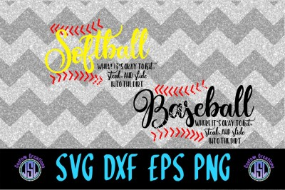 Softball Baseball Bundle SVG DXF EPS PNG