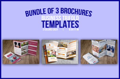Bundle of 3 Trifold Templates
