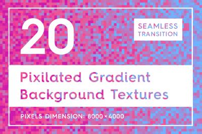 20 Pixilated Gradient Background Textures