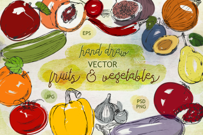 Collection of fruits & vegetables
