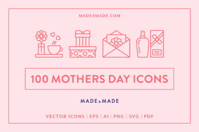 Line Icons – Mothers Day