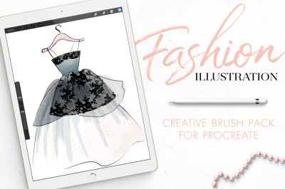 Procreate Brush Set for Fashion Illustration