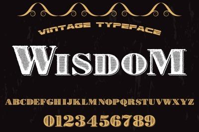 vintage handcrafted typeface alphabet vector label design wisdom