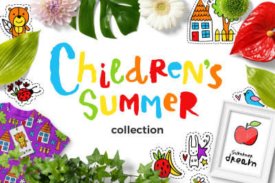 Children's Summer - Clipart Set!