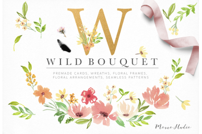 Wild Bouquet Florals and Leaves