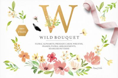 Wild Bouquet Alphabet & Graphics