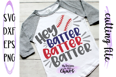 Baseball SVG | Baseball Mom SVG | Hey Batter SVG | Baseball Cutting