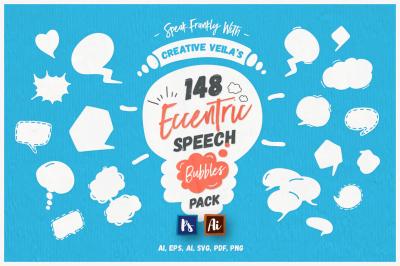 Eccentric Speech Bubbles Vector Pack