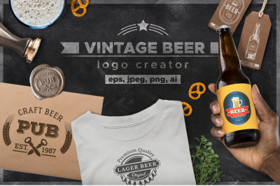 Craft Beer Design Kit Logo Creator