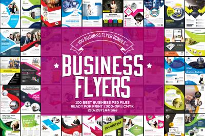 100 Business Flyers Mega Bundle