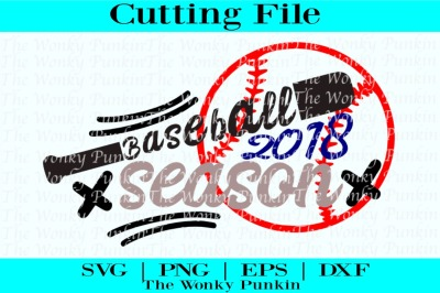 Baseball Season 2018, Svg Cut File
