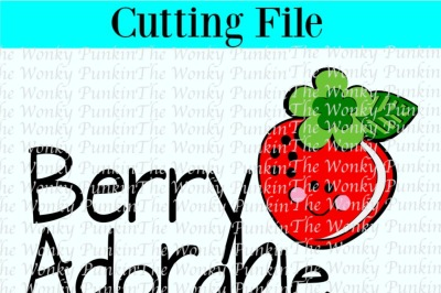 Berry Adorable , Svg Cut File