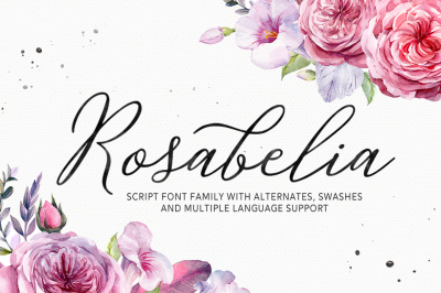 Rosabelia Script - Font Family
