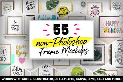 55 Non-Photoshop Mockups