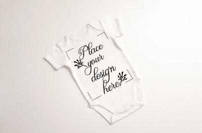 Baby Suit Bodysuit one piece mockup apparel growsuit mock up psd