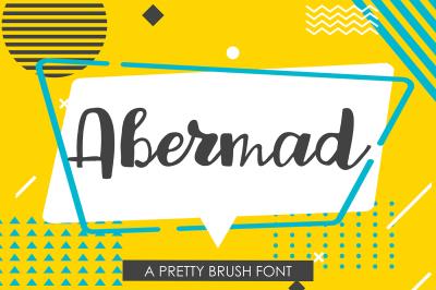 Abermad - handdrawn font