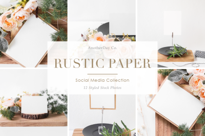 Rustic Paper Styled Stock Photos