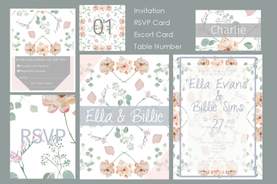 Bloom & Foliage Wedding Stationery Pack
