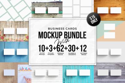 Business Card Mockup Bundle + Bonus