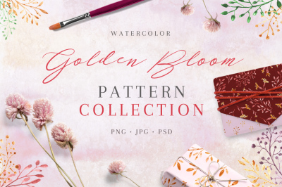 Golden Bloom - pattern collection