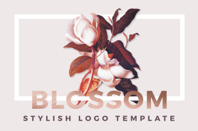 Stylish logos template - Blossom